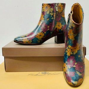 Patricia Nash Marcella Peruvian Paint Ankle Boots